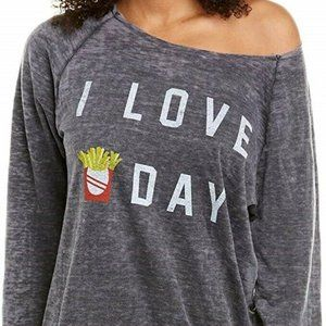 Recycled Karma Graphic Sweater I LOVE FRY DAY